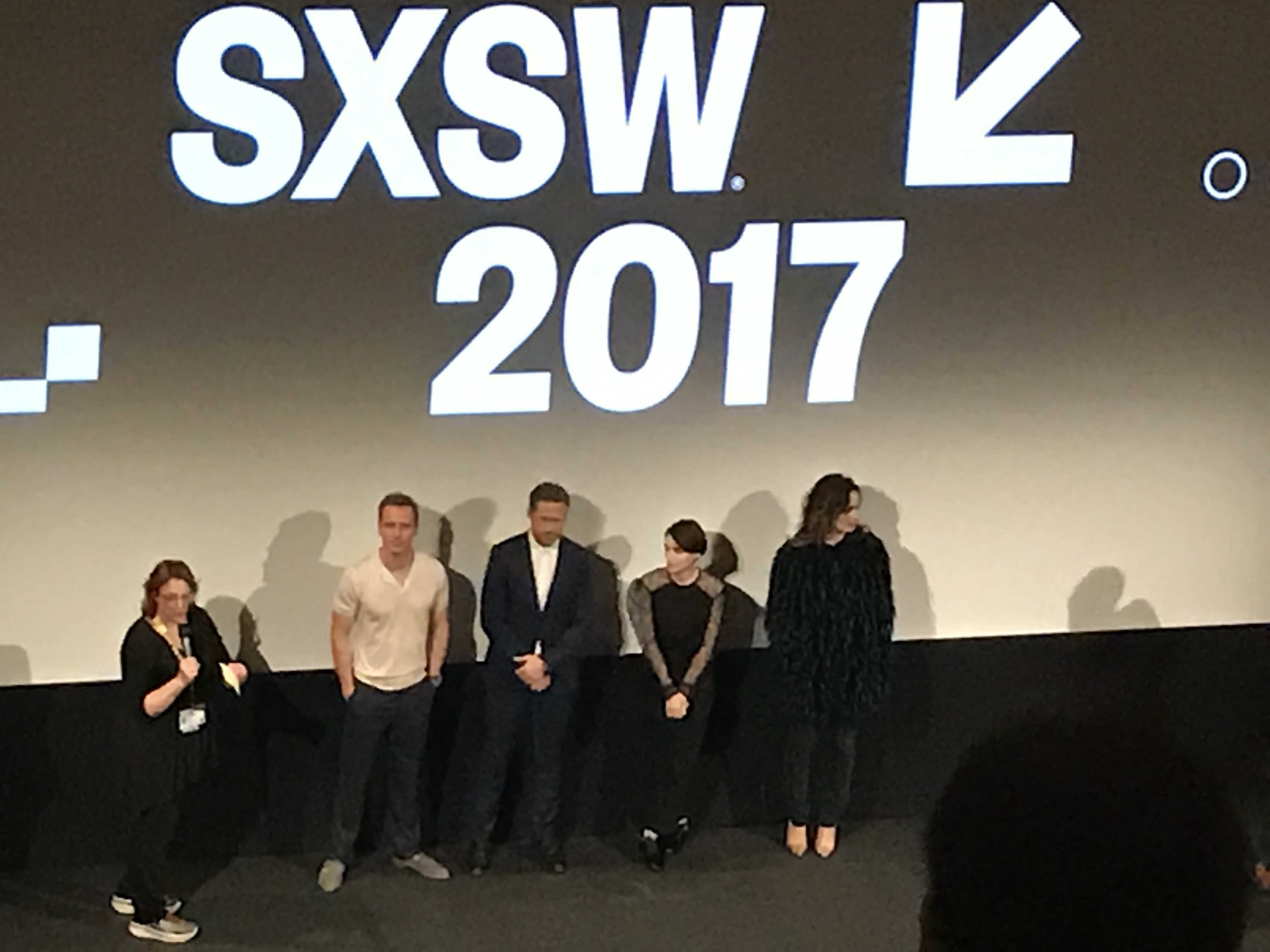 SXSW premiere of 'Song to Song' (l-r: Michael Fassbender, Ryan Gosling, Rooney Mara and Bérénice Marlohe)