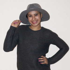 Briana Donis sporting her favorite hat along with her wonderful smile.