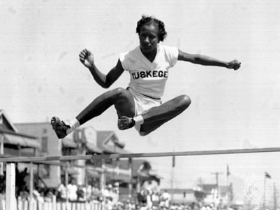 Alice Coachman (1923-2014) was the first African American woman to win an Olympic gold medal. Coachman won the high jump at the 1948 London Olympics.