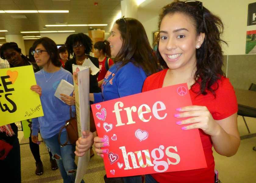 Slideshow: Free Hugs at Stafford campus