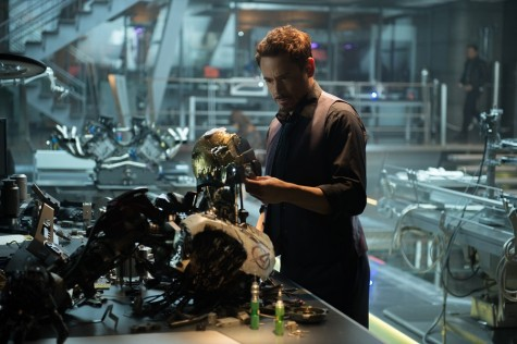 This photo provided by Disney/Marvel shows, Robert Downey Jr. as Iron Man/Tony Stark in the film,