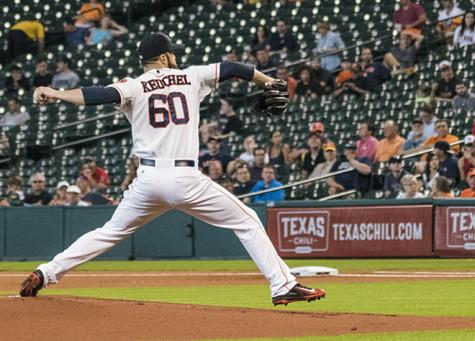 Keuchel working on his 6th victory of the year.