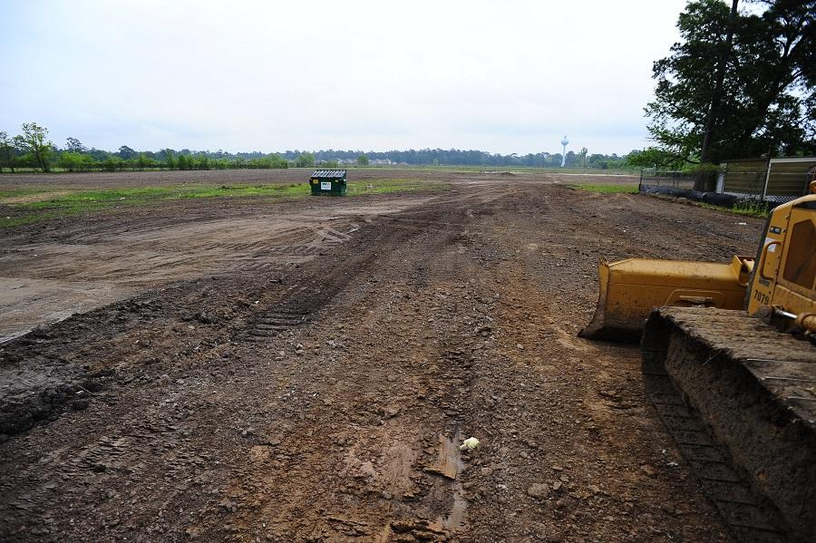 This image from April 6 2015 shows the North Forest campus progress. At the HCC Board of Trustees meeting on Aug. 20, several citizens, including Congresswoman Shelia Jackson Lee, address the board to demand that plans for the new building stay true to the original plan.