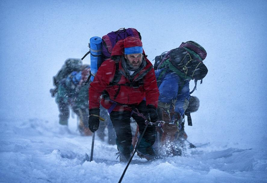 This photo provided by Universal Pictures shows, Jason Clarke as Rob Hall, who leads the expedition in the film 'Everest.