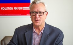 Houston mayoral candidate Chris Bell talked about issues like transportation and police body cameras. Election day is Nov. 3.