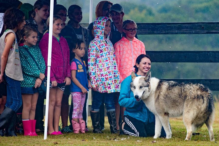 The Saint Frances Wolf Sanctuary in Montgomery, TX hosted a open day on Oct. 24.