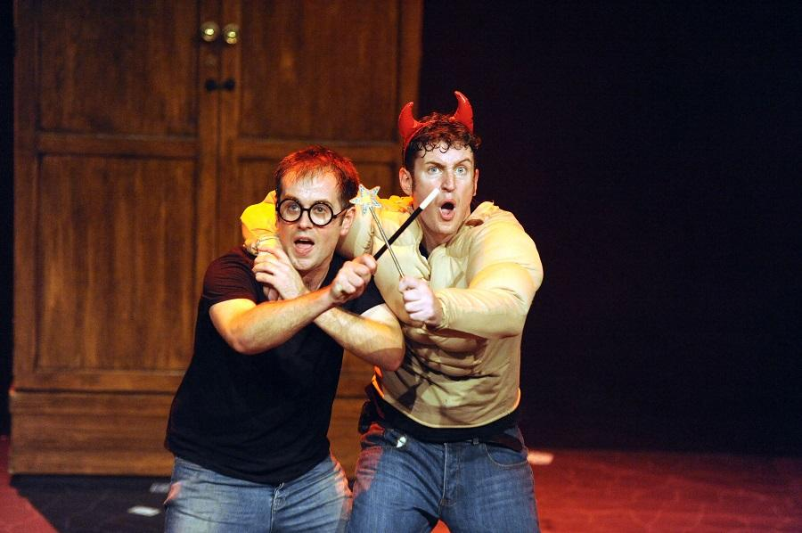 Dan Clarkson and Jeff Turner play in Potted Potter, which will be showing at the Hobby Center until Nov. 8