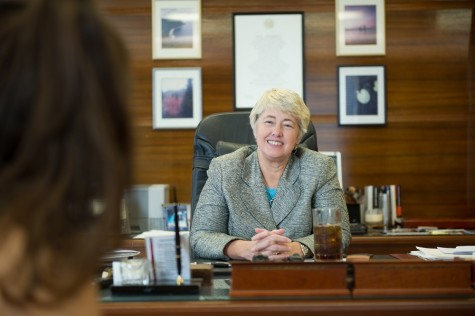 Outgoing Mayor Annise Parker spoke about her time as mayor.