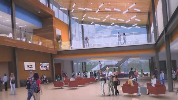 Computer rendering of the new Missouri City campus, which will open March 2017.