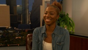 """Houston Community College student Breanna Cotton volunteers with The French Art Alliance's """"A Space To A Place"""" program to help transform the community of the Third Ward where she grew up."""