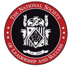 The National Society of Leadership and Success logo. Sigma Alpha Pi letters are in the center of the crest.