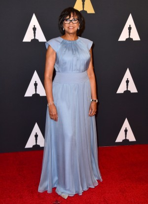 In this Nov. 14, 2015 photo, Cheryl Boone Isaacs, president of the Academy of Motion Picture Arts & Sciences, arrives at the Governors Awards in Los Angeles. The second straight year of all-white acting nominees has turned this year's Academy Awards into a referendum on diversity in the movie industry and sparked protests around Hollywood's biggest annual celebration. (Photo by Jordan Strauss/Invision/AP, File)