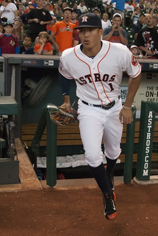 Carlos Correa taking the field for the first time at Minute Maid Park