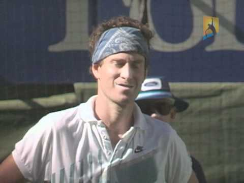 McEnroe disqualified at Australian Open.