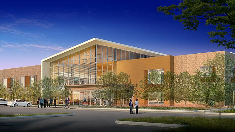 A computer rendering of what the new Missouri City campus off Texas Parkway will look like when in opens in March 2017.