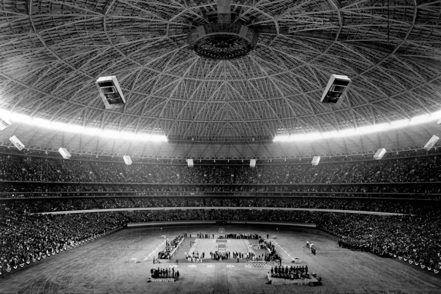 A+view+from+the+seats+inside+of+the+Astrodome+on+January+20%2C+1968.