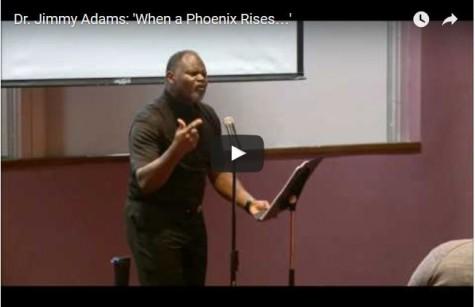 Professor-poet recites