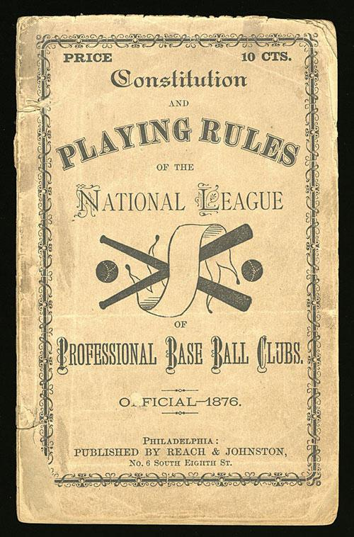 A+copy+of+the+original+book+of+rules+for+the+National+League.