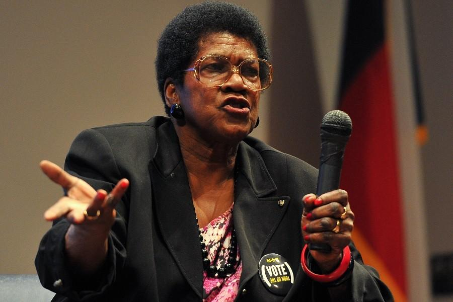 Noted activist Mamie King-Chalmers visited the Houston Community College West Loop campus for a discussion of Civil Rights on Feb. 4 for Black History Month.