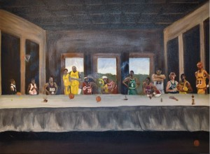 An untitled work by Kevo that is on display at the West Loop campus.