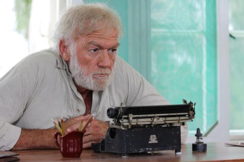This image released by Yari Film group shows Adrian Sparks as Ernest Hemingway in a scene from the film,