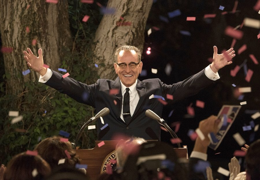 In this image released by HBO, Bryan Cranston portrays President Lyndon B. Johnson in a scene from,