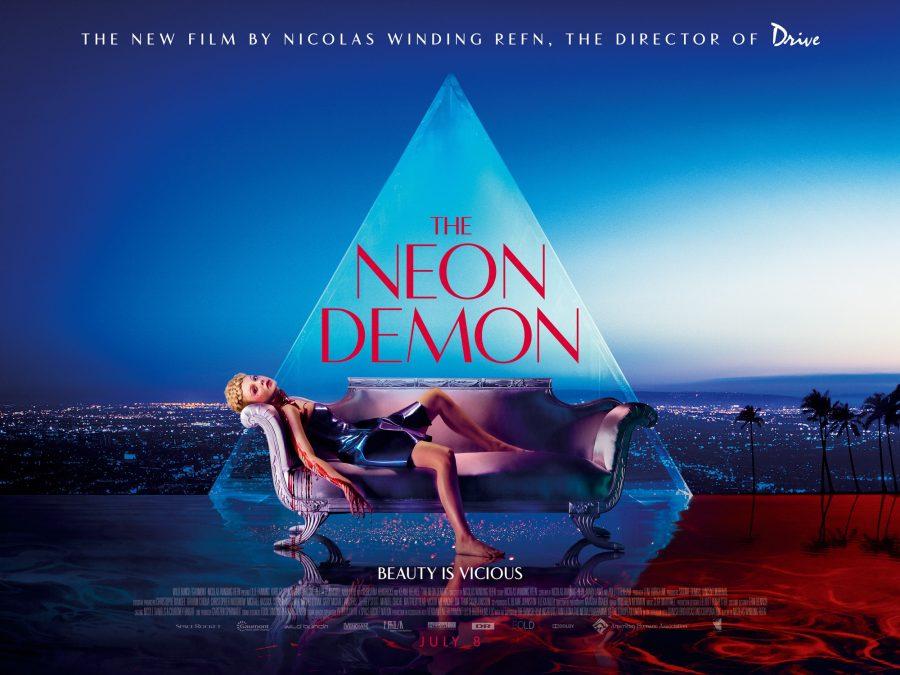 The Neon Demon Directed by Nicolas Winding Refn starring Elle Fanning, Christina Hendricks, Keanu Reeves.