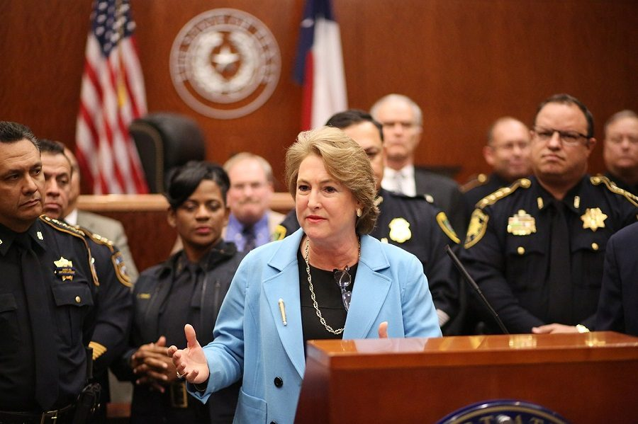 Harris+County+District+Attorney+Kim+Ogg%2C+introduced+her+Misdemeanor+Marijuana+Diversion+Program+at+the+Harris+County+Justice+Criminal+Justice+Center+on+Feb.+16.+The+program+will+go+into+effect+on+March+1.+
