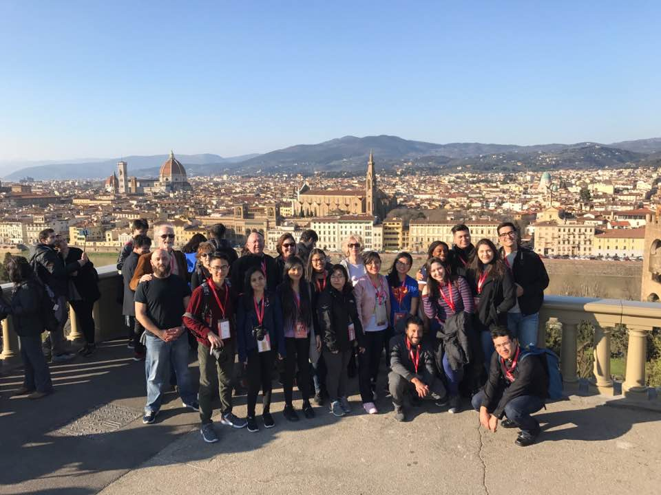 HCC Honors College student visited Italy during Spring Break. The students visited cities such as Venice and Florence.