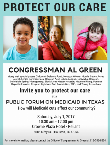 Congressman Al Green to hold public forum on Medicaid