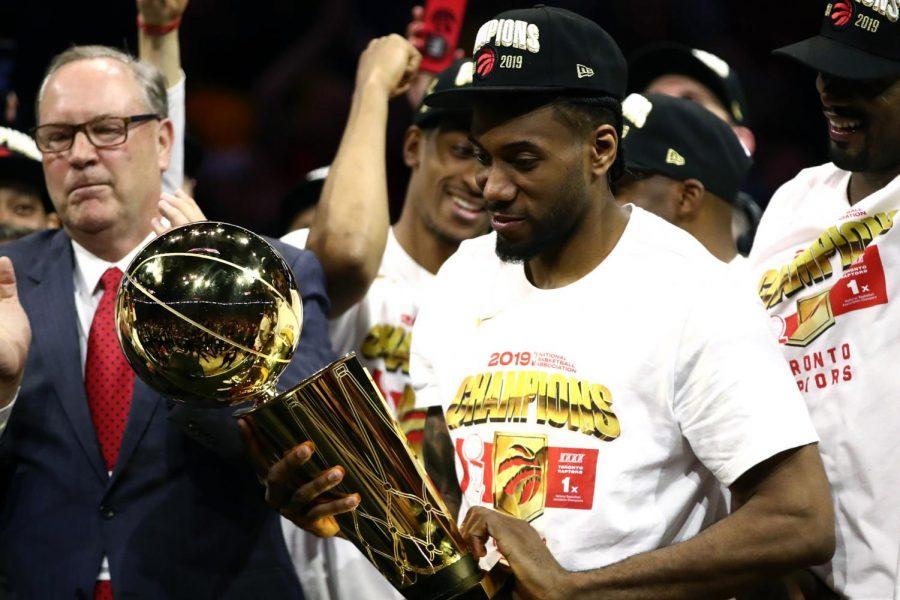 Khawi Leonard helps Raptors take down Golden State Warriors