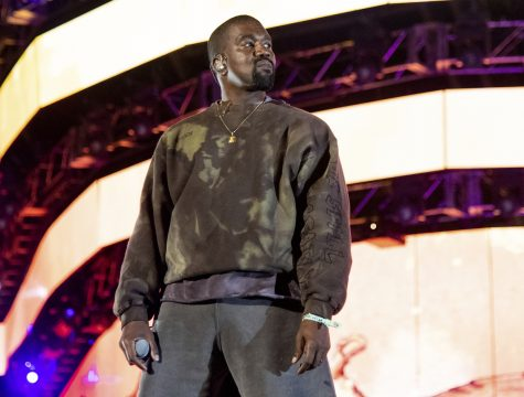 "This April 20, 2019 file photo shows Kanye West performing at the Coachella Music & Arts Festival in Indio, Calif. West has unveiled his ""Jesus Is King"" IMAX film featuring a gospel choir performing at artist James Turrell's dramatic Roden Crater in the Arizona desert. West showed the 35-minute film off to fans at an event Wednesday night at The Forum in Inglewood, Calif. (Photo by Amy Harris/Invision/AP, File)"