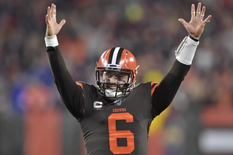 Baker Mayfield scores a hat-trick (2 Passing TDs along with 1 Rushing TD) to cement the Browns second win in a row.
