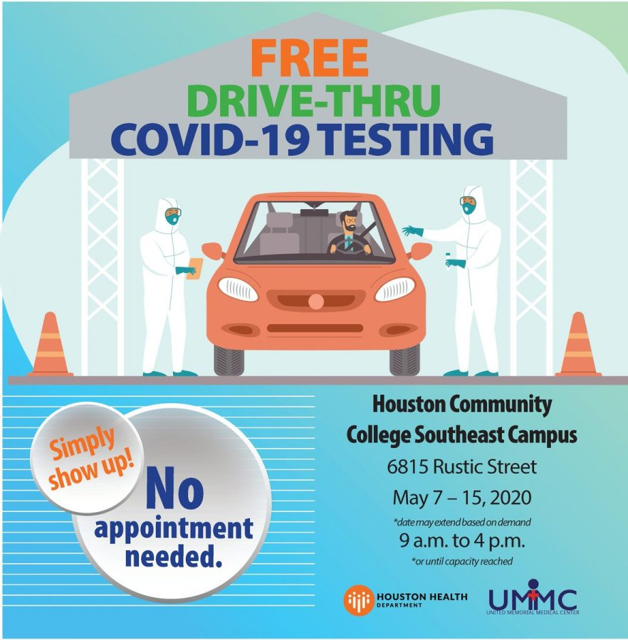 FREE COVID-19 Testing at HCC Southeast! Stop by Today!
