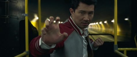 This image released by Marvel Studios shows Simu Liu in a scene from Shang-Chi and the Legend of the Ten Rings.